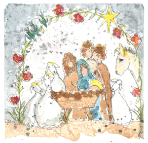 2015 Nativity by Jane Martin | Watercolor Original