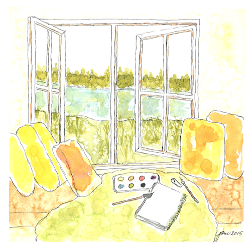 The Open Window by Jane Martin | Watercolor Original