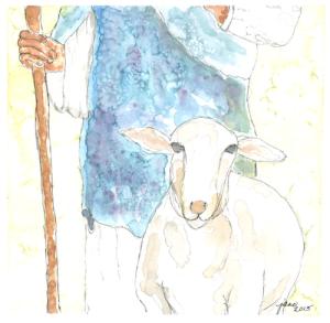 The Good Shepherd by Jane Martin | Watercolor Original