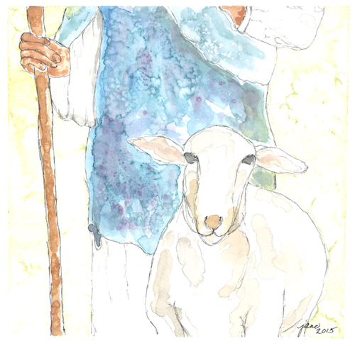 The Good Shepherd by Jane Martin | Watercolor Original