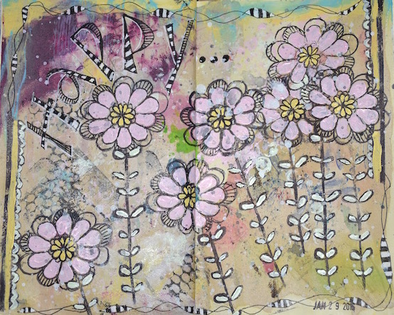 Art Journal - Happy by Jane Martin