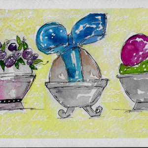 Decorated Eggs by Jane Martin | Watercolor Original