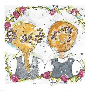 Friendship by Jane Martin   Watercolor Original
