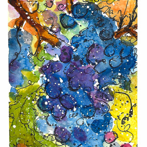 I Am the Vine You Are the Branches by Jane Martin | Watercolor Original
