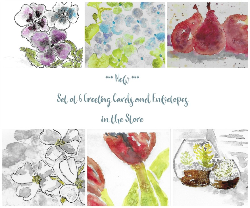 Jane's Greeting Card Set #1 by Jane Martin | Watercolor Cards