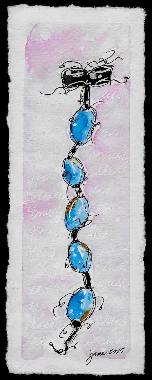 Ribboned Eggs by Jane Martin | Watercolor Original