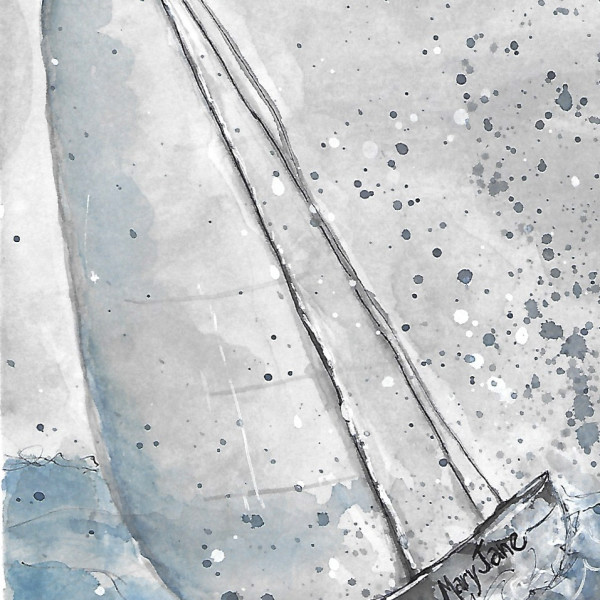 The Launch #2 by Jane Martin | Watercolor Original