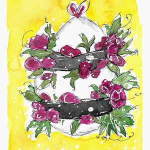 Wrapped in Roses by Jane Martin | Watercolor Print