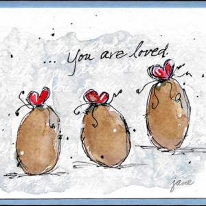You Are Loved by Jane Martin | Watercolor Original