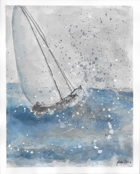 The Launch by Jane Martin | Watercolor Original
