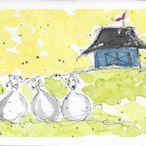 Baa Baa Baa by Jane Martin | Watercolor Original