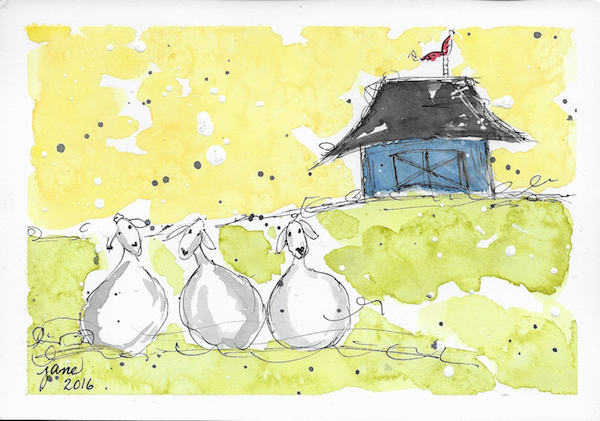 Baa Baa Baa by Jane Martin | Watercolor Original