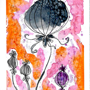 Blooming Onions by Jane Martin | Watercolor Original Painting