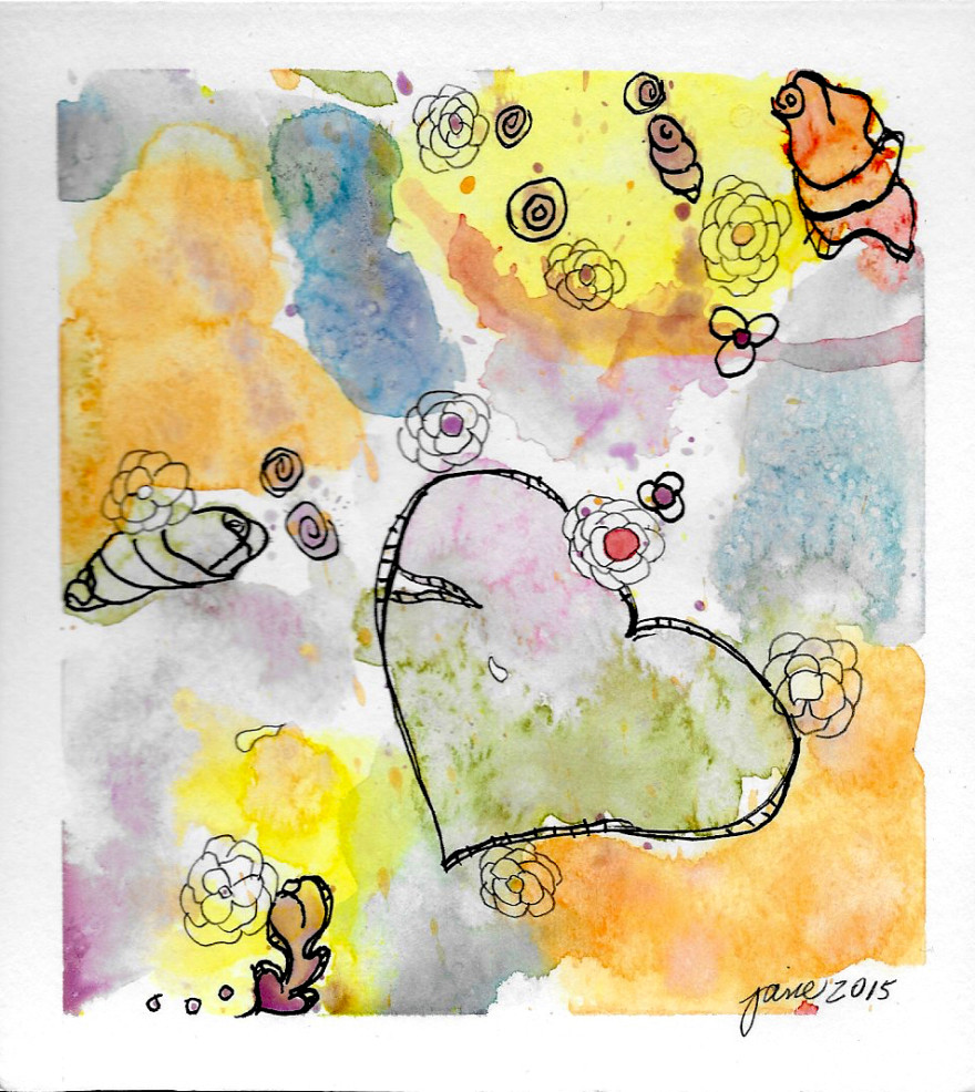 Brokenhearted by Jane Martin | Watercolor Original Painting