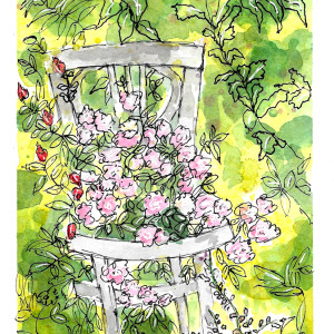 Deep in the Garden by Jane Martin | Watercolor Original Painting