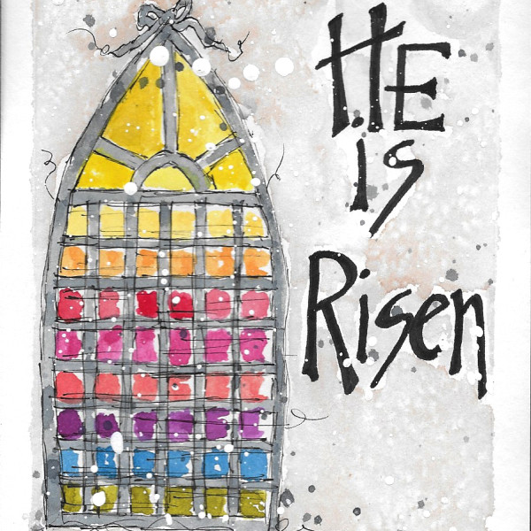 He is Risen #1 by Jane Martin | Card from Original Watercolor