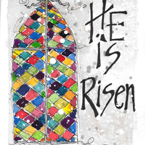 He is Risen #2 by Jane Martin |Card from Watercolor Original