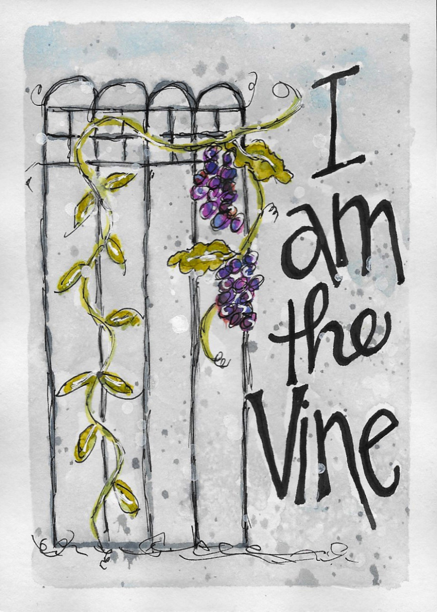 I Am the Vine by Jane Martin | Card from Watercolor Original