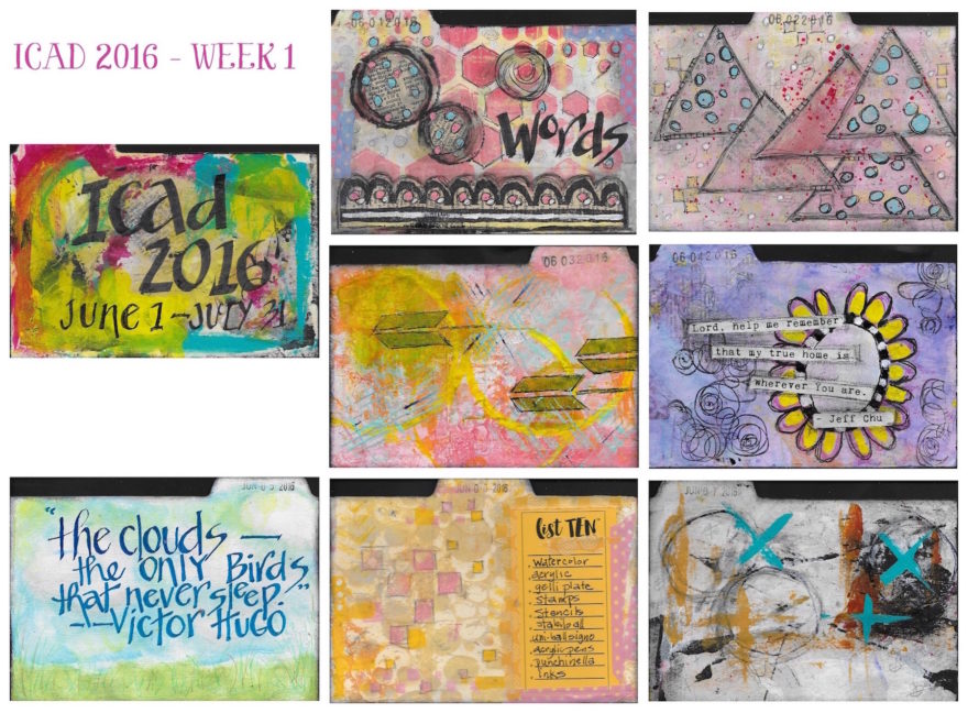 ICAD 2016 - WEEK 1 by Jane Martin | Original Work on 4x6 Index Cards