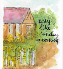 Easy Like Sunday Morning by Jane Martin | Original Watercolor Painting