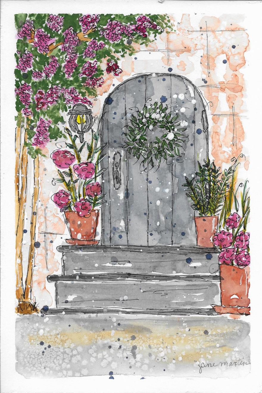 Welcome Home by Jane Martin | Original Watercolor Painting