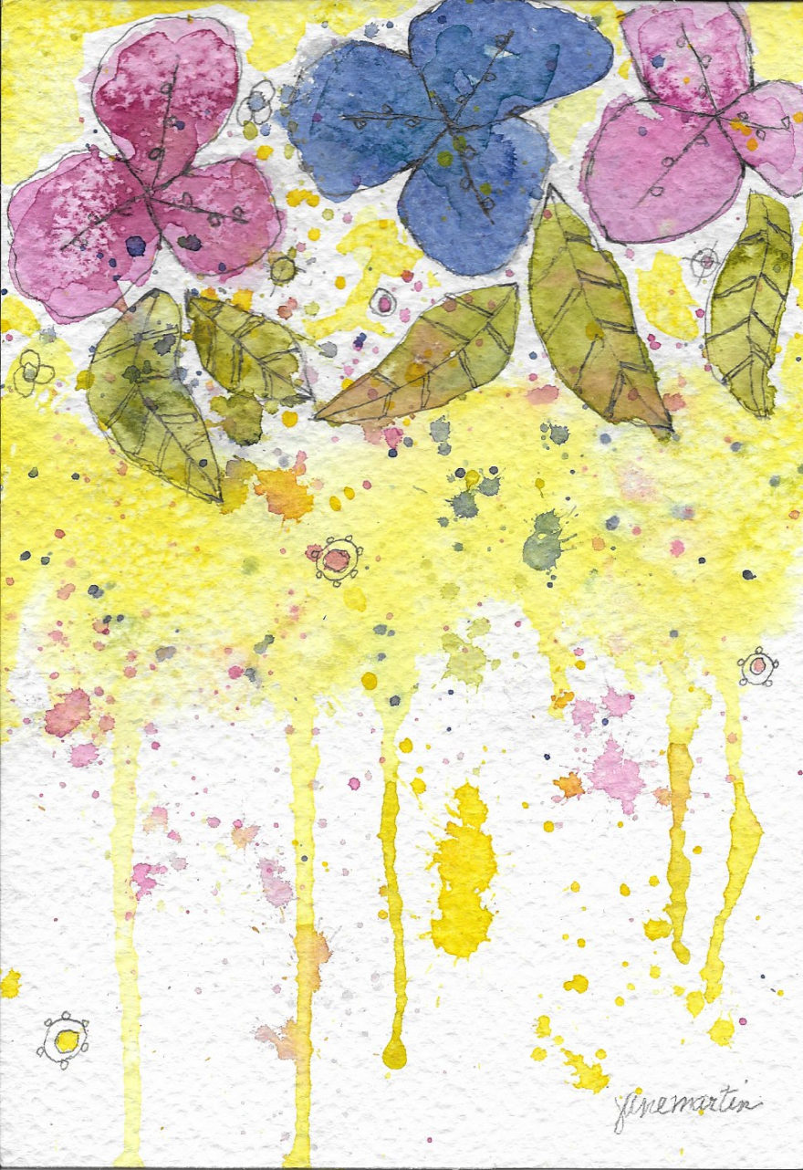 Drippings by Jane Martin | Original Watercolor Painting