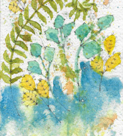 Ferns and Flowers by Jane Martin | Original Watercolor Painting