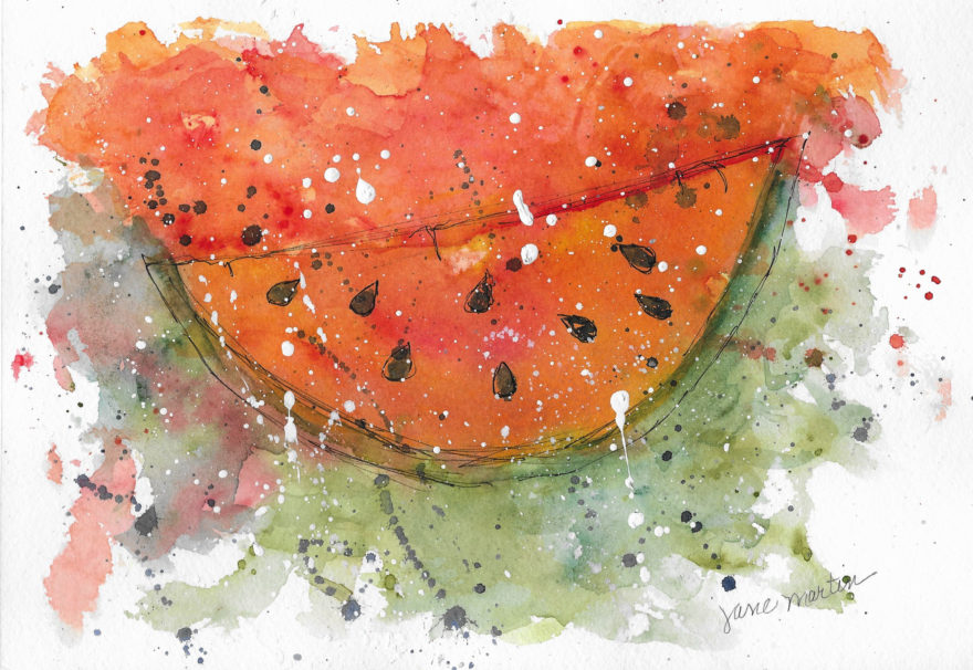 a-different-kind-of-slice-by-jane-martin-original-watercolor-painting