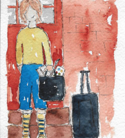 Going to Donna Downey Studio by Jane Martin | Original Watercolor Painting