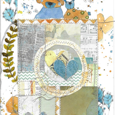 bear-bunny-blue-by-jane-martin-original-mixed-media-painting