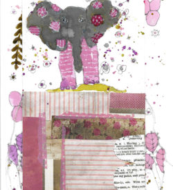 the-pink-elephant-by-jane-martin-original-mixed-media-piece