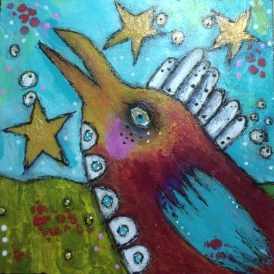 twinkle-twinkle-dirty-flirty-bird-by-jane-martin-original-acrylic-painting