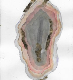 Geode No. 01 by Jane Martin | Original Watercolor Painting with Gold Leaf