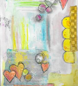 The Love Collection Card No 01 by Jane Martin   Printed from Original Art Journal Mixed Media Page