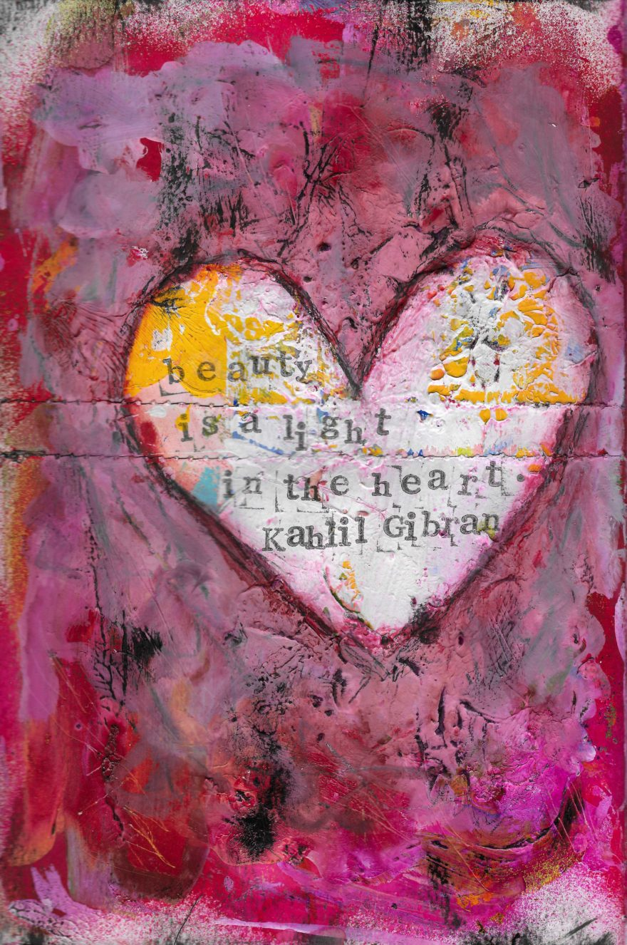 The Love Collection Card No 10 by Jane Martin | Printed from Original Art Journal Mixed Media Page