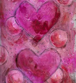 The Love Collection Card No 11 by Jane Martin | Printed from Original Art Journal Mixed Media Page