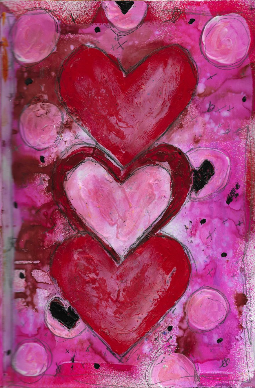 The Love Collection Card No 13 by Jane Martin | Printed from Original Art Journal Mixed Media Page