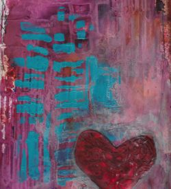 The Love Collection Card No 14 by Jane Martin | Printed from Original Art Journal Mixed Media Page