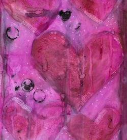 The Love Collection Card No 16 by Jane Martin | Printed from Original Art Journal Mixed Media Page