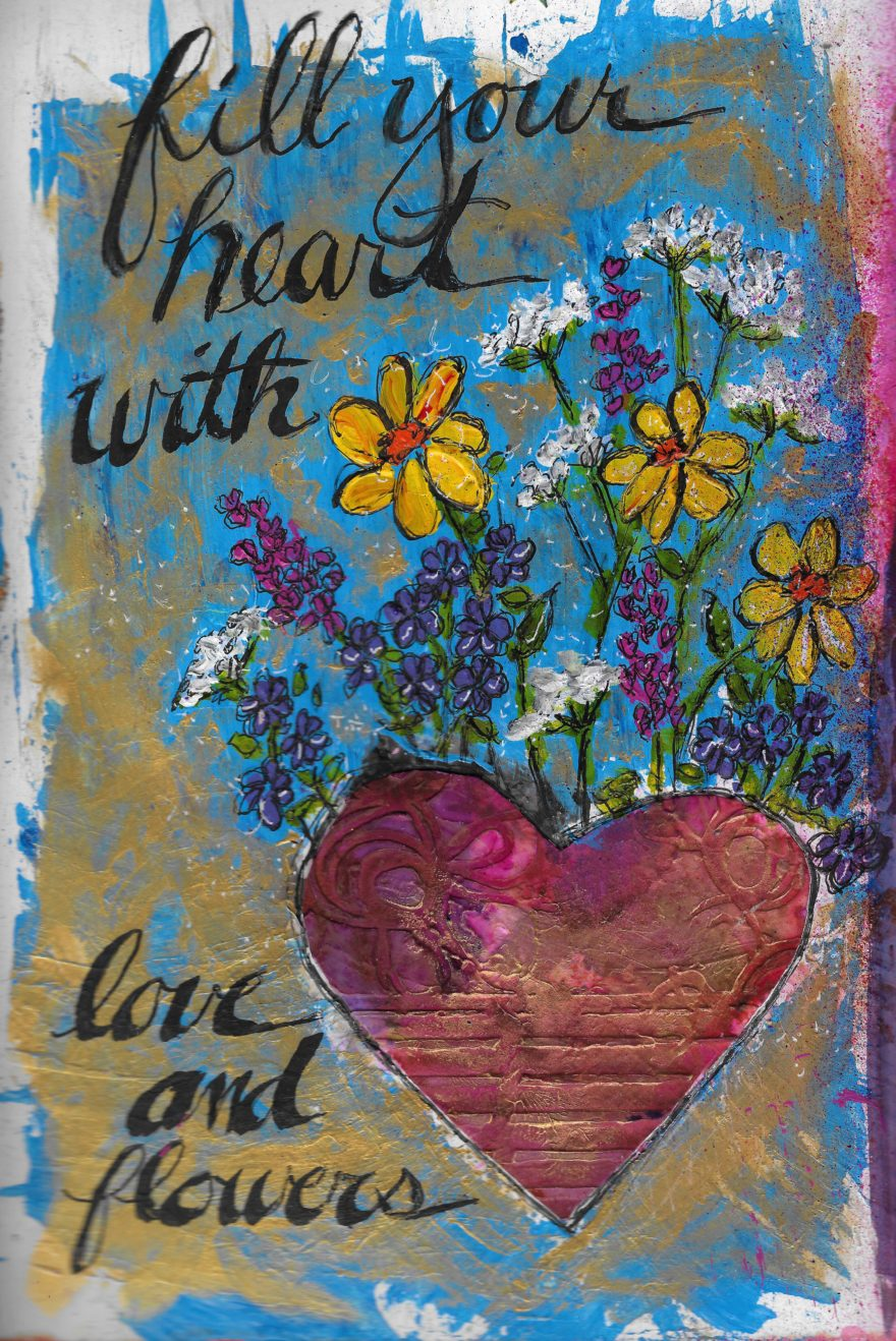 Love Collection 18 by Jane Martin | Print of an Art Journal Page