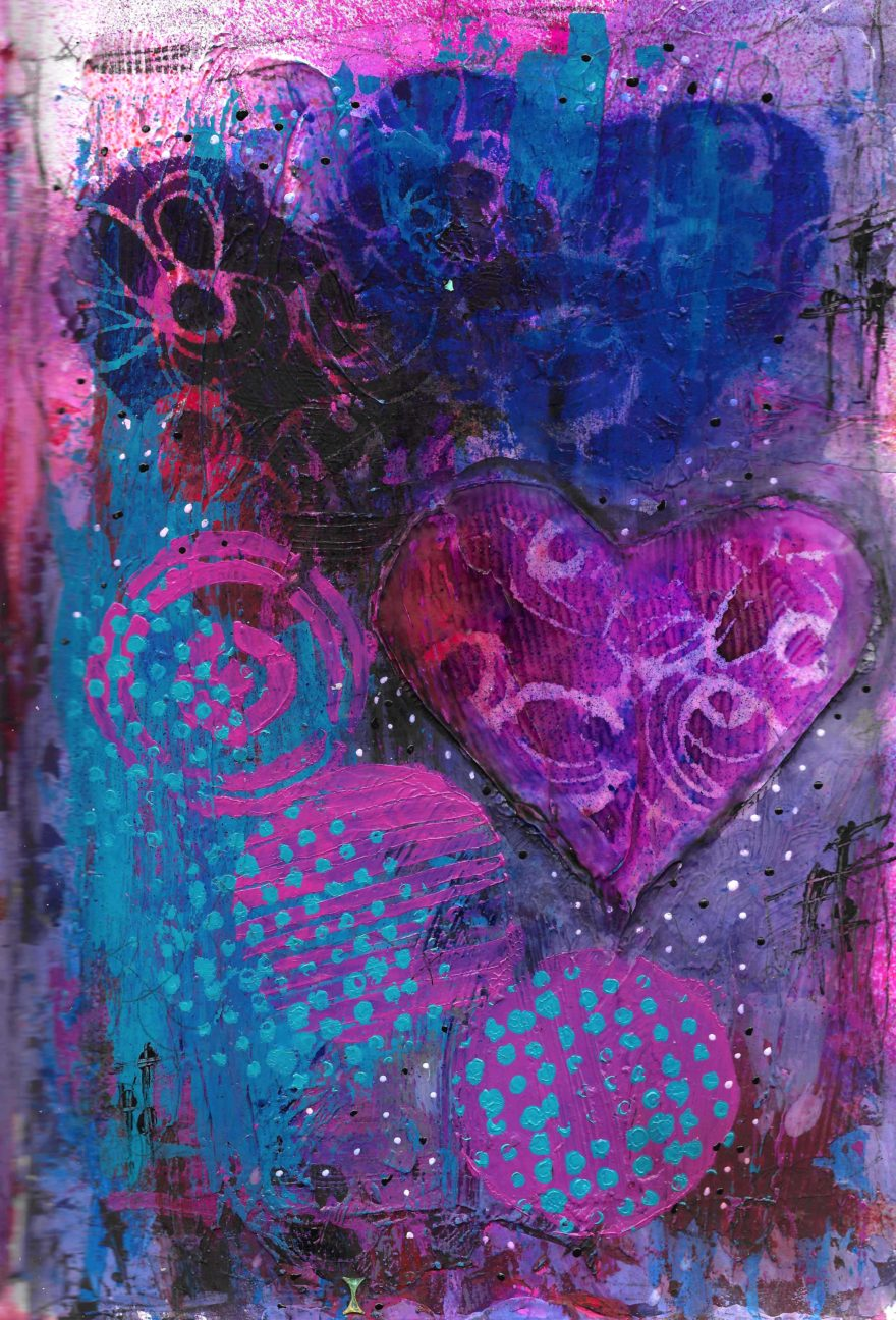 The Love Collection Card No 19 by Jane Martin | Printed from Original Art Journal Mixed Media Page