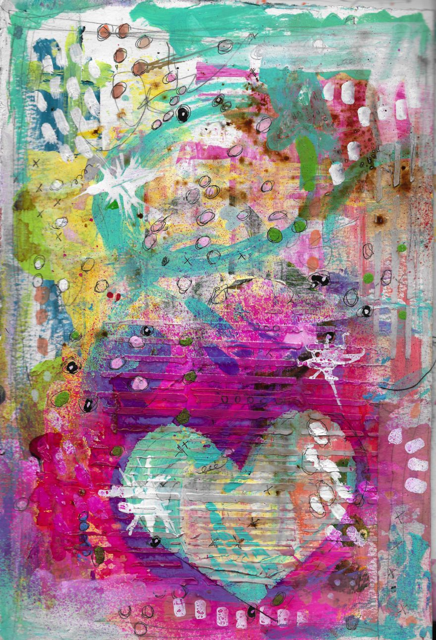 The Love Collection Card No 21 by Jane Martin | Printed from Original Art Journal Mixed Media Page