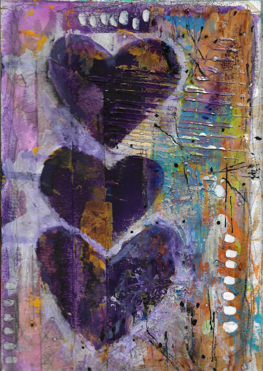 The Love Collection Card No 23 by Jane Martin | Printed from Original Art Journal Mixed Media Page