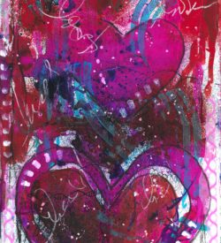 The Love Collection Card No 25 by Jane Martin | Printed from Original Art Journal Mixed Media Page