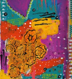 The Love Collection Card No 26 by Jane Martin | Printed from Original Art Journal Mixed Media Page
