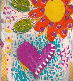 The Love Collection Card No 29 by Jane Martin | Printed from Original Art Journal Mixed Media Page