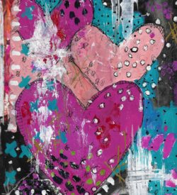 The Love Collection Card No 34 by Jane Martin | Printed from Original Art Journal Mixed Media Page