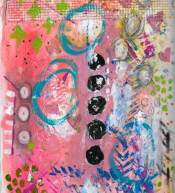 The Love Collection Card No 35 by Jane Martin | Printed from Original Art Journal Mixed Media Page