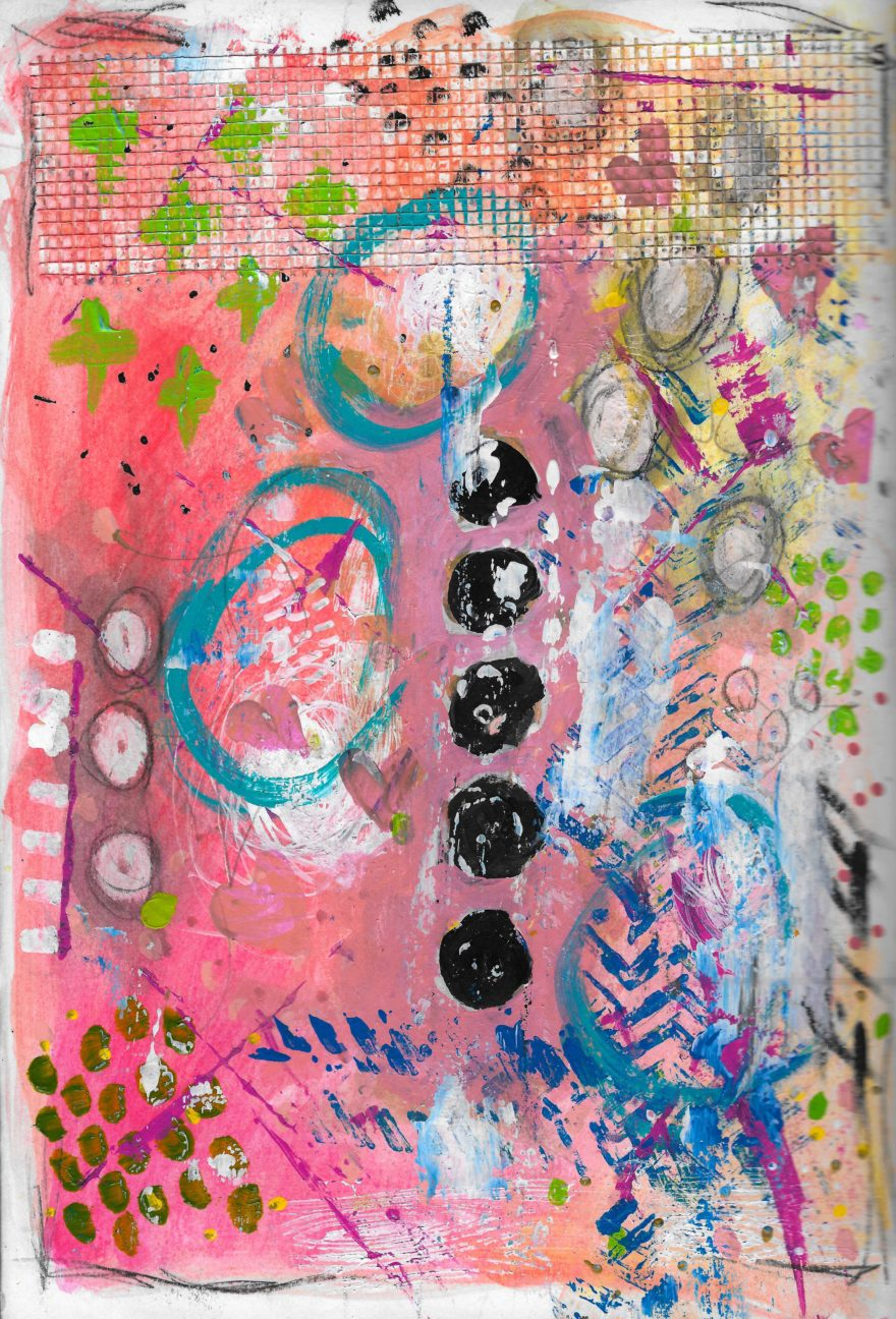 The Love Collection Card No 35 by Jane Martin   Printed from Original Art Journal Mixed Media Page