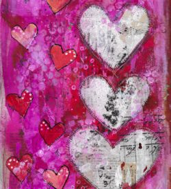 The Love Collection Card No 08 by Jane Martin | Printed from Original Art Journal Mixed Media Page